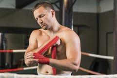 Boxeur avant combat image libre de droits
