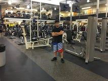 Boxeur Bakhtyar Eyubov à 24 heures de forme physique Photos stock