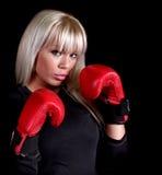 Boxeur blond Photographie stock libre de droits