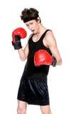 Boxeur courageux images libres de droits