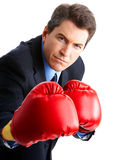Boxeur d'homme d'affaires Images stock