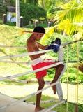 Boxeur dans le concetration 2 Image libre de droits