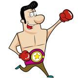 Boxeur de bande dessinée Photos stock