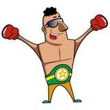 Boxeur de bande dessinée Image libre de droits