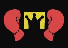 Boxeur de champion de roi Image libre de droits