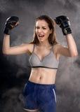 Boxeur de femme Photographie stock libre de droits