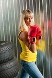 Boxeur de fille Photos libres de droits