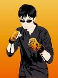 Boxeur de garçon, sports extrêmes Photos stock