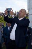 Boxeur de Nikolai Valuev Russian dans le politicien russe lourd Photo libre de droits
