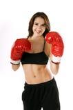 Boxeur de Woamn Images libres de droits