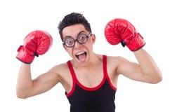 Boxeur drôle Photographie stock libre de droits