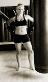 Boxeur en gymnastique images libres de droits