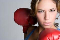 Boxeur fâché photo libre de droits