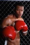 Boxeur fâché. Photo libre de droits