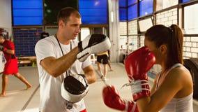 Boxeur féminin à la formation Photo libre de droits