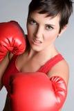 Boxeur féminin photo stock