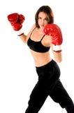 Boxeur féminin Photographie stock libre de droits
