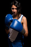 Boxeur féminin Photos libres de droits