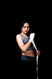 Boxeur féminin asiatique Photo libre de droits