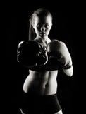 Boxeur féminin discret Image libre de droits