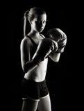 Boxeur féminin discret Images libres de droits