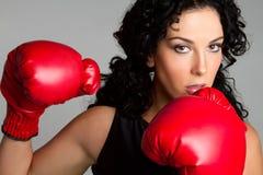 Boxeur féminin professionnel photographie stock libre de droits