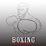 Boxeur modèle Illustration de Vecteur