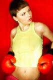 Boxeur rouge images stock