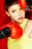 Boxeur rouge photo stock