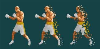 Boxeurs abstraits combattant les uns contre les autres illustration de vecteur