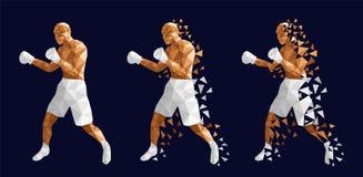 Boxeurs abstraits combattant les uns contre les autres illustration libre de droits