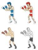 Boxeurs de bande dessinée Photographie stock libre de droits