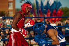 Boxeurs de combat Photographie stock