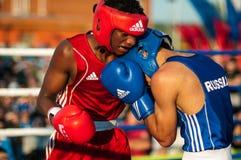 Boxeurs de combat Photo libre de droits
