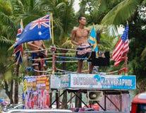 Boxeurs thaïlandais de coup-de-pied Images stock