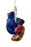 Boxhandschuhe in der Farbe der Europäischen Gemeinschaft und des Deutschlands Stockfotos