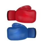 Boxhandschuhe lokalisiert auf weißem Hintergrund Stockfotografie