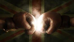 Boxhandschuhe mit der Flagge von Großbritannien Lizenzfreie Stockfotos