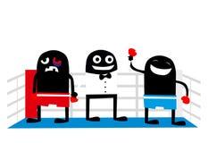 Boxin winner cartoon characters Stock Photo