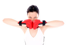 Boxing,. Preparation for match Royalty Free Stock Photo