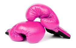 Boxing. Pink glove boxing. just relax Royalty Free Stock Photo