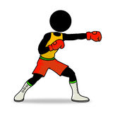 Boxing. Silhouette-man sport icon - boxing Stock Images