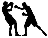 Boxing. Abstract  illustration of boxing men silhouettes Royalty Free Stock Photography