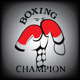 Boxing. The fantasy boxing sport game Royalty Free Stock Photo