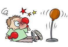Boxing accident Stock Image