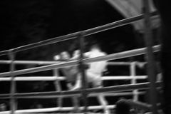 Boxing activity abstract background. Blur motion. Royalty Free Stock Photo
