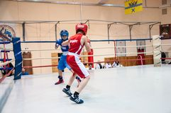 Boxing among adolescents Stock Photos