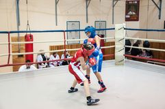 Boxing among adolescents Stock Photography