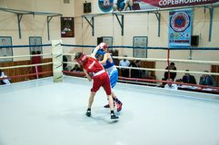 Boxing among adolescents Stock Image