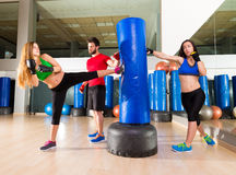 Boxing aerobox women group personal trainer Stock Photos